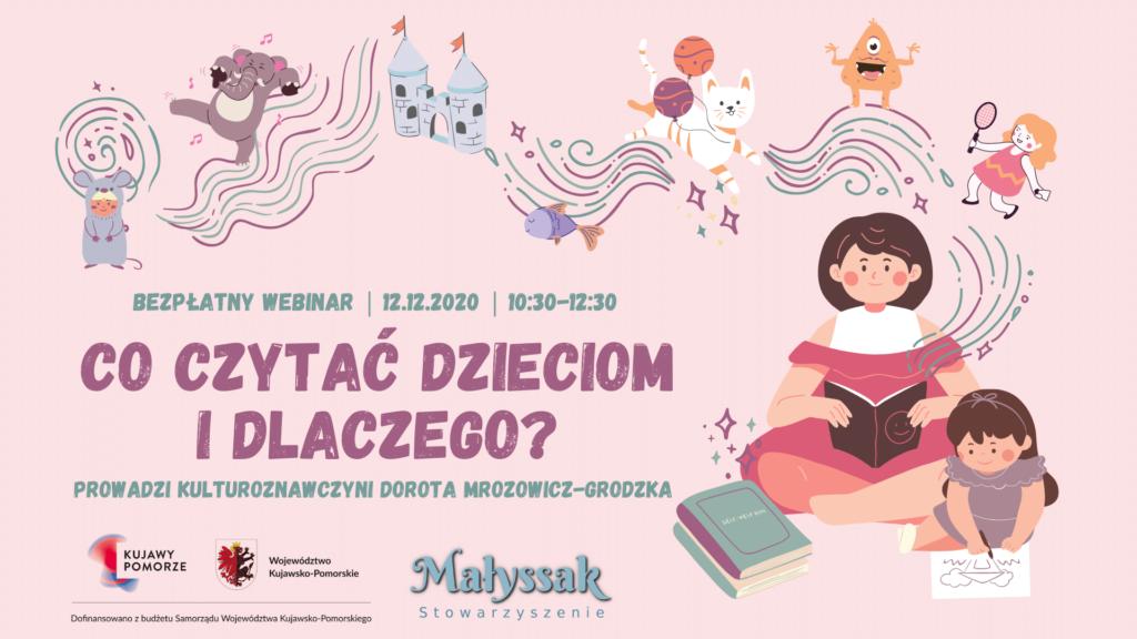 Baner webinaru Co czytać dzieciom i dlaczego