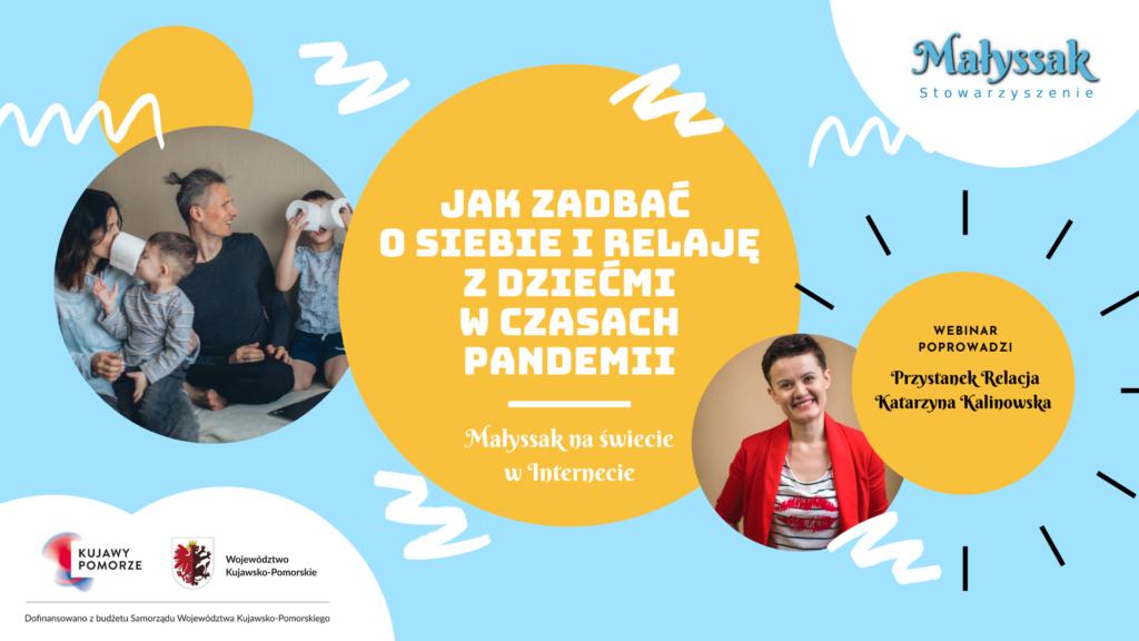 Baner webinaru Jak zadbac o siebie i relację z dziećmi w czasach pandemii