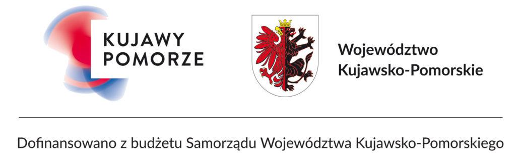 Logo Województwa Kujawsko pomorskiego z dopiskiem Dofinansowano z budżetu Samorzoądu Województwa Kujawsko-Pomorskiego