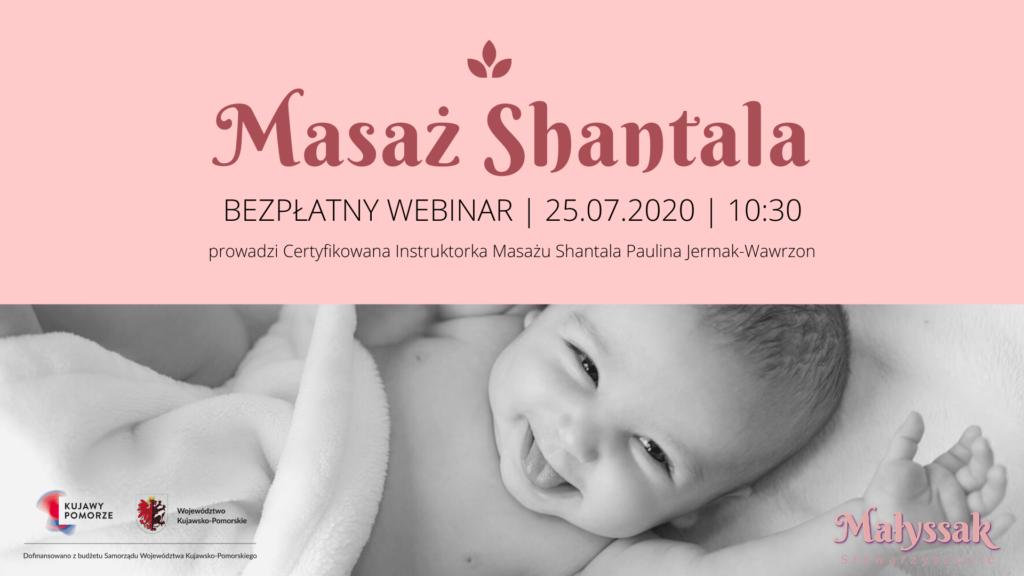 Baner webinaru Masaż Shantala