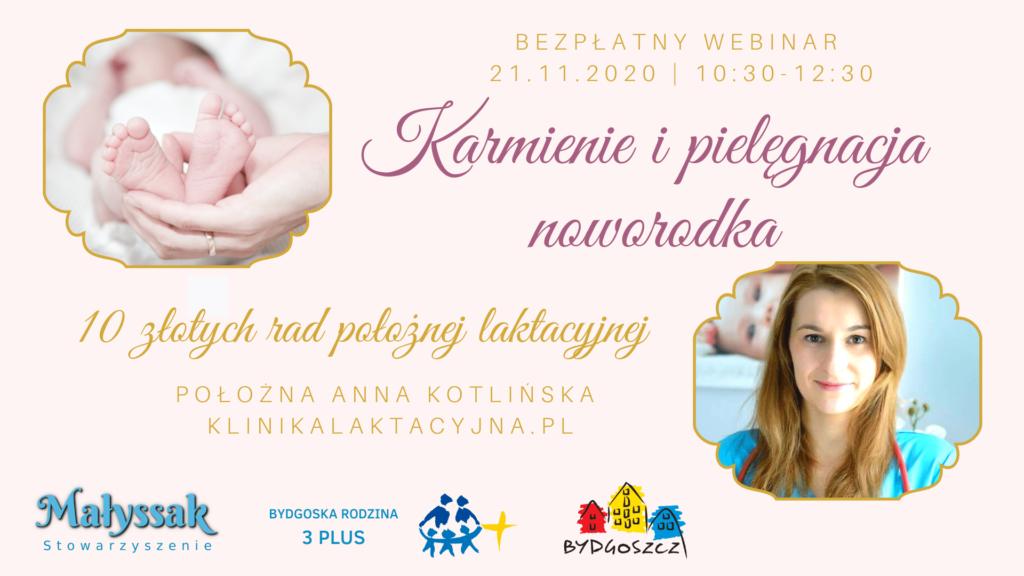 Baner webinaru Karmienie i pielęgnacja noworodka