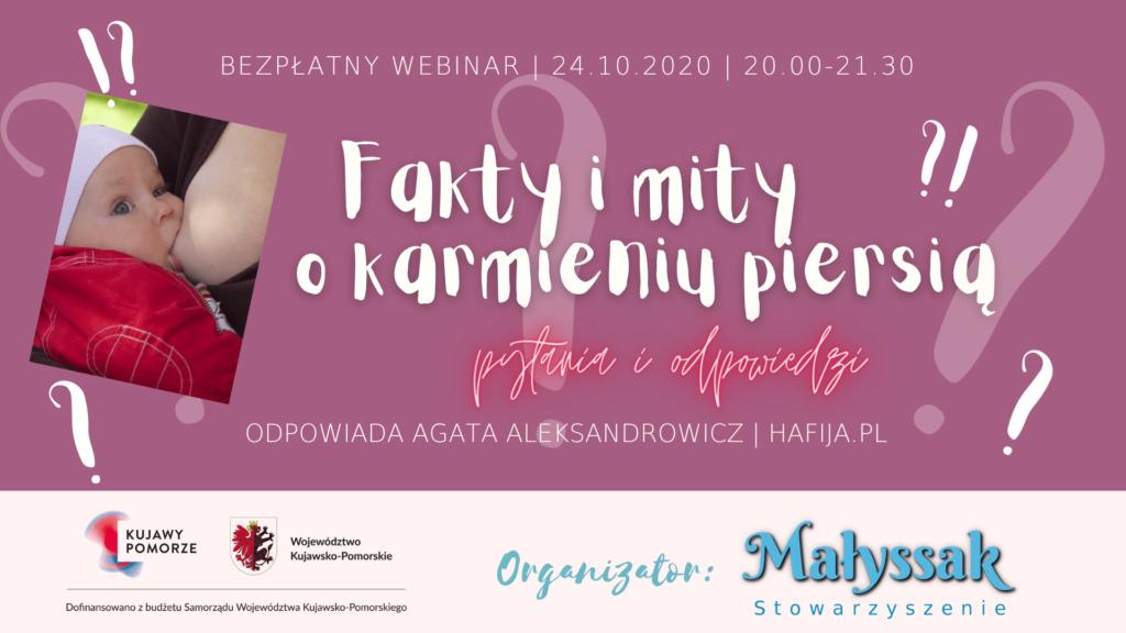 Baner webinaru Fakty i mity o karmieniu piersią z Hafiją