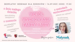 """Baner webinaru """"Wokół wychowania - Fakty i mity"""""""