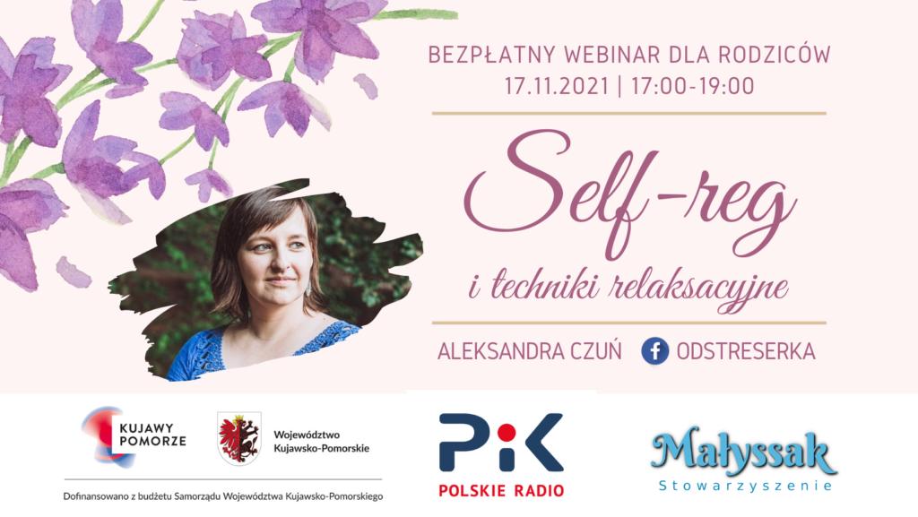 Baner webinaru dla rodziców Self-reg i techniki relaksacyjne