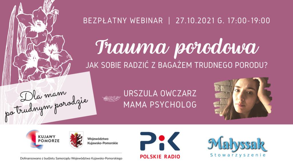 Baner webinaru Trauma poporodowa Jak radzić sobie z bagażem trudnego porodu
